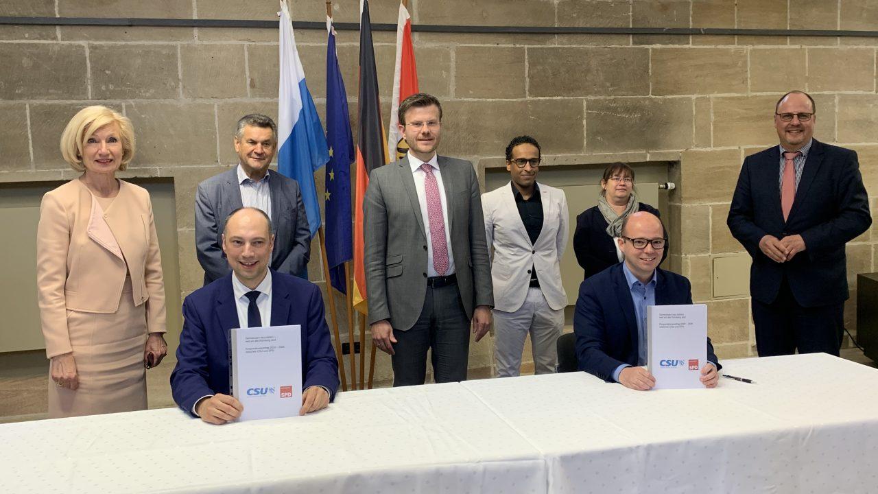 Kooperationsvertrag zwischen CSU und SPD unterzeichnet