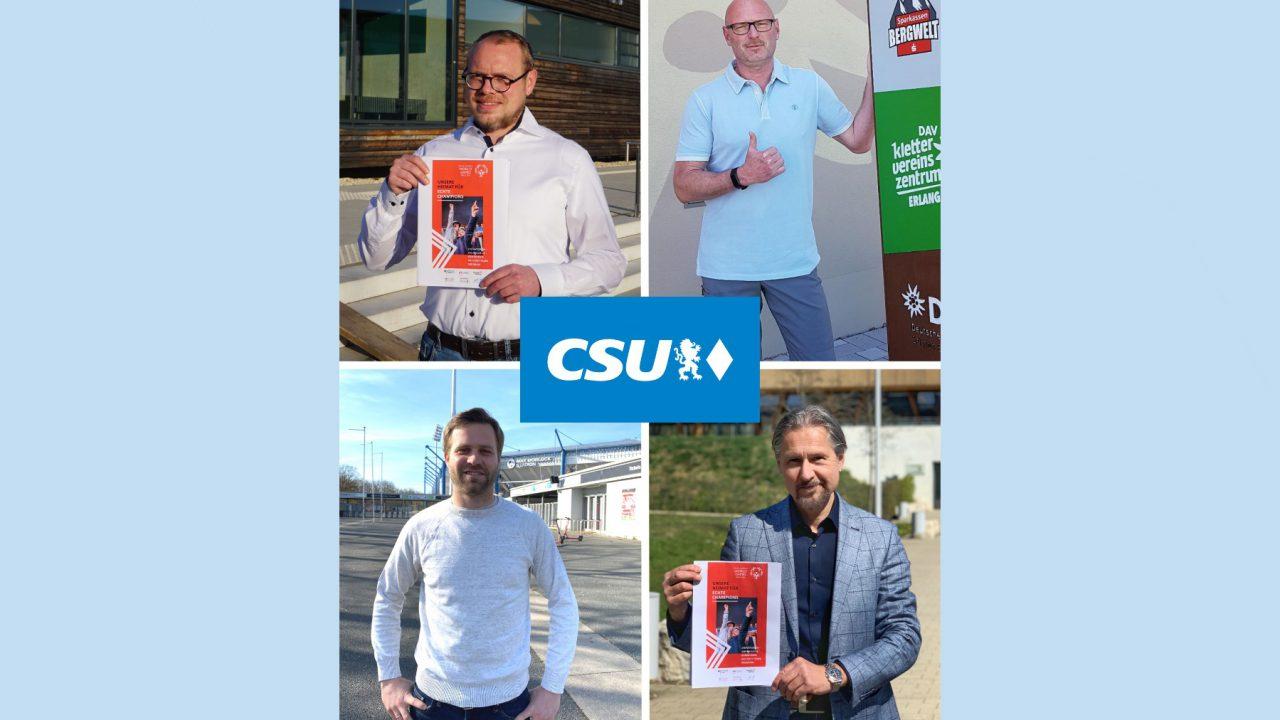 """CSU Fraktionen stellen gemeinsamen Antrag in der Städteachse: """"Host-Town"""" für die Special Olympics 2023"""